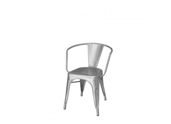 Fremont Dining Arm Chair - Silver