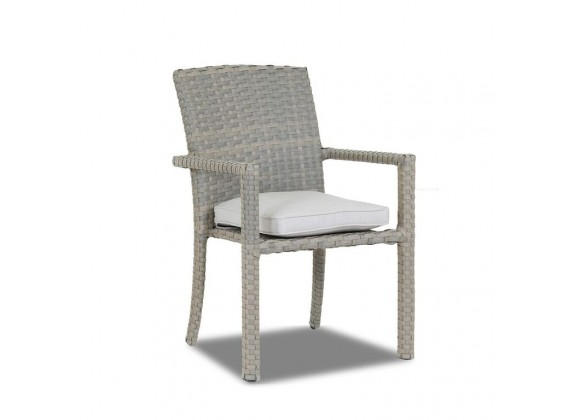 Majorca Dining Chair with Cushions in Cast Silver