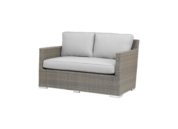 Majorca Loveseat With Cushions In Cast Silver