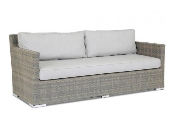 Majorca Sofa with Cushions in Cast Silve