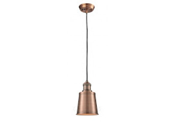 Metal Shade Pendant With 10 Feet Cord - ANTIQUE COPPER