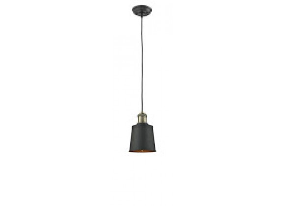 METAL SHADE - BLACK/BRUSHED BRASS