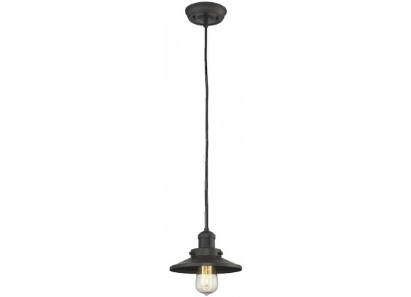 Metal Shade Pendant With 10 Feet Cord - Oiled Rubbed Bronze - METAL SHADE