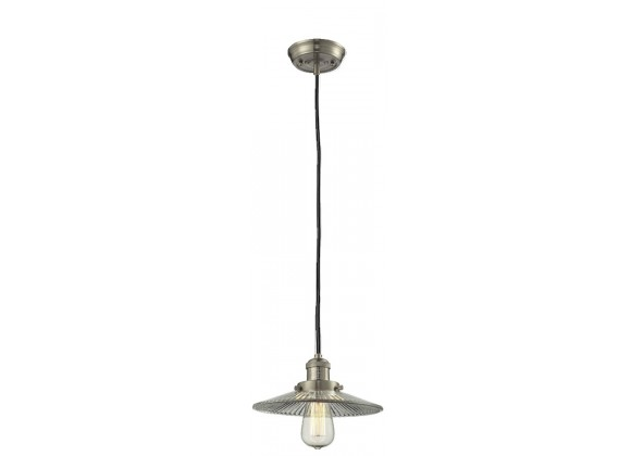 Glass Pendant With 10 Feet Cord - Satin Brushed Nickel - HALOPHANE GLASS