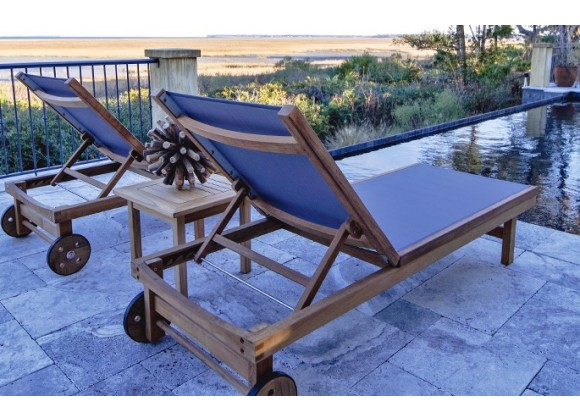 Royal Teak Collection Sundaze Teak Lounges - Lifestyle
