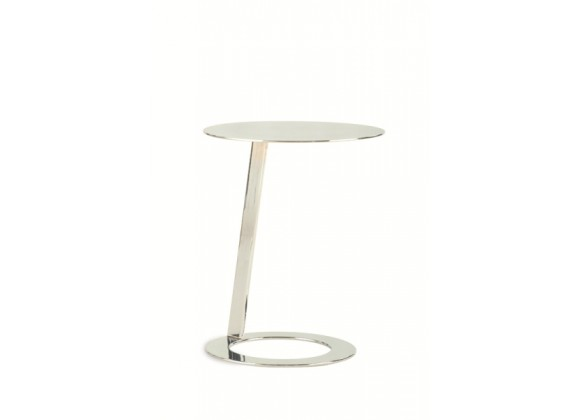Allan Copley Designs Mindy Polished Chrome Plated Accent Table