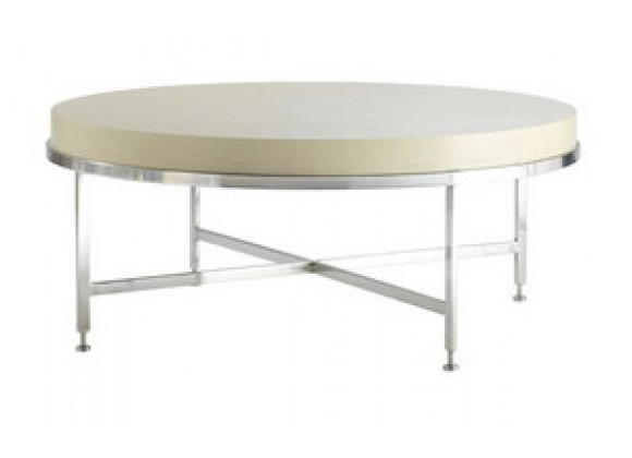 Allan Copley Designs Galleria Round Cocktail Table - White on Ash Top
