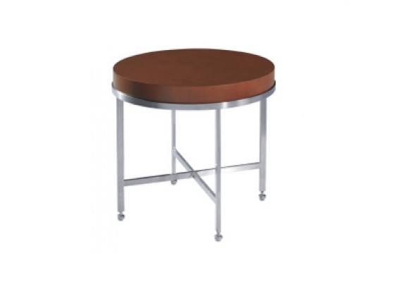 Allan Copley Designs Galleria Round End Table - Latte on Birch Top