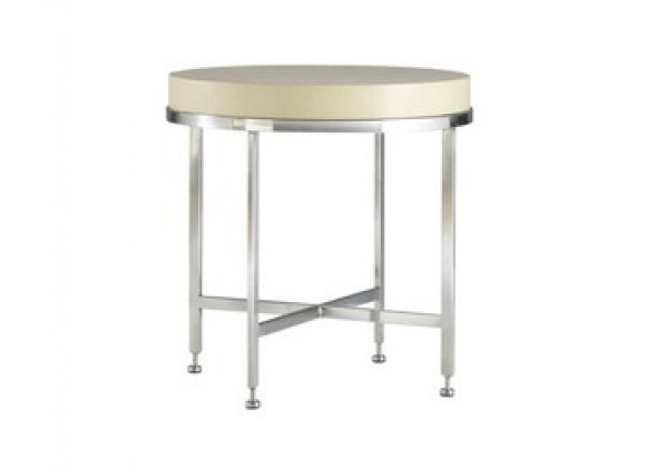 Allan Copley Designs Galleria Round End Table - White on Ash Top