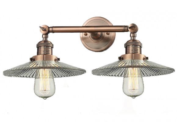 Innovations Lighting Glass 2 Light Adjustable Wall Sconce Up Or Down - Antique Copper (G2)