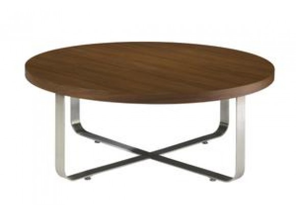 Allan Copley Designs Artesia Round Cocktail Table with Walnut Stain Top