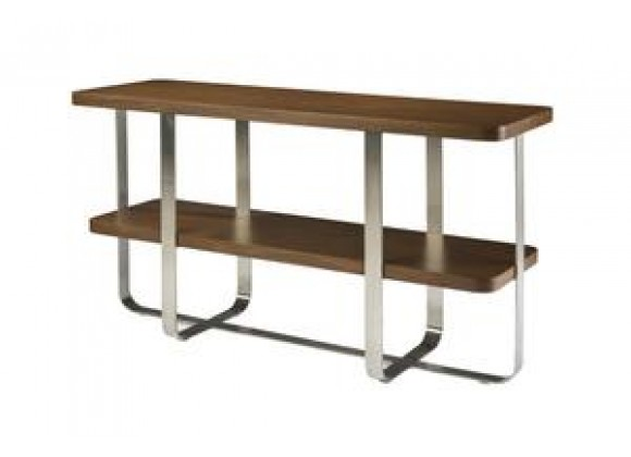 Allan Copley Designs Artesia Rectangle Console Table with Walnut Stain Top