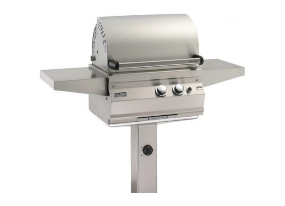Fire Magic Legacy Deluxe Natural Gas Grill On In-ground Post
