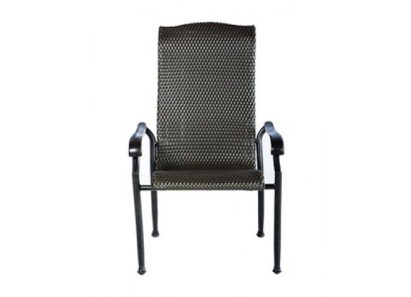 Alfresco Home Hemingway High Back All-Weather Wicker Dining Chair