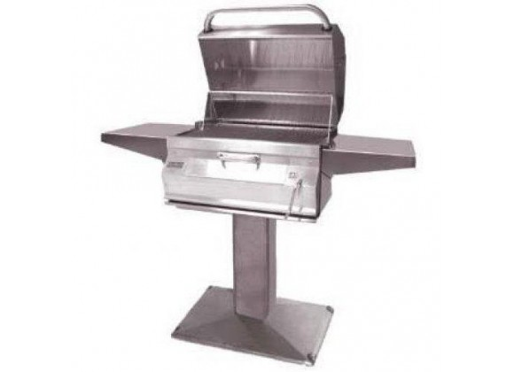 Fire Magic Charcoal Legacy Patio Post Grill w Smoker Hood