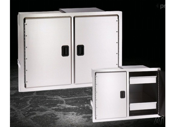 Fire Magic Legacy Double Door w Dual Drawers and Trash Tray