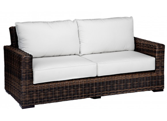 Montecito Wicker Loveseat With Cushions - White BG