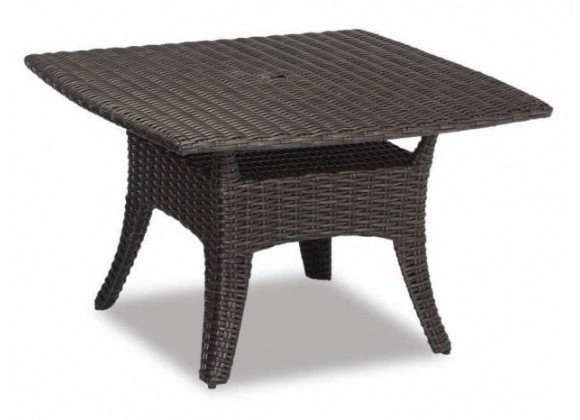 """Cardiff Wicker 48"""" Boat Shaped Dining Table"""