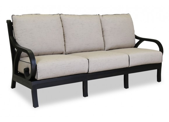 Monterey Sofa With Cushions In Frequency Sand With Canvas Walnut Welt