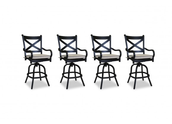 Monterey Barstool With Cushions - Front (set of 4)