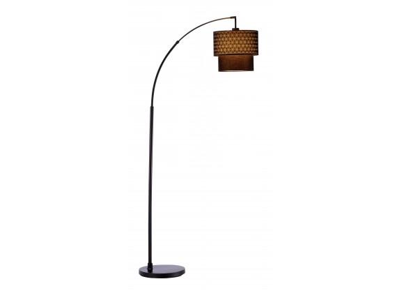 Adesso Gala Arc Floor Lamp - Black