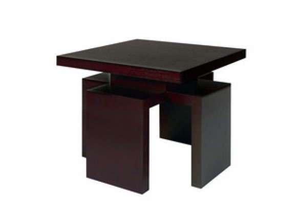 Allan Copley Designs Sebring Square End Table in Mocha on Oak Finish