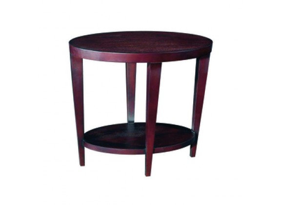 Allan Copley Designs Marla Oval End Table with Shelf