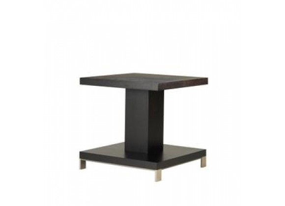 Allan Copley Designs Force Square End Table in Mocha on Oak Finish