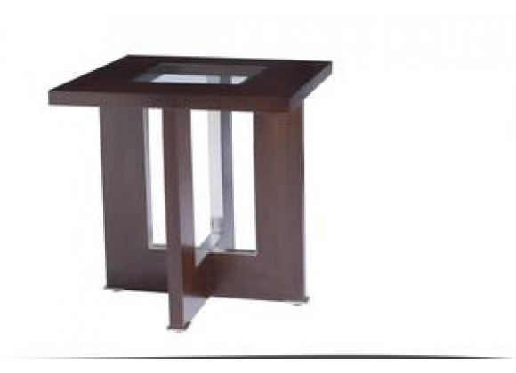 Allan Copley Designs Bridget Square End Table with Glass Inset