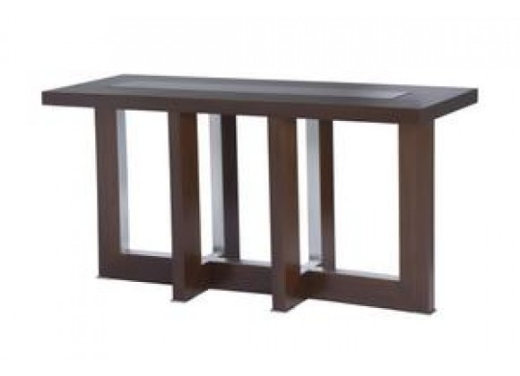 Bridget Rectangular Console Table with Glass Inset