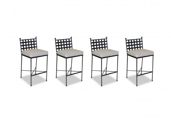 Provence Aluminum Barstool With Cushions - Front (4 pcs)