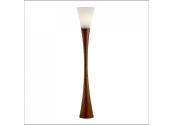 Adesso Espresso 68 Inch Hourglass Shaped Design Floor Lamp