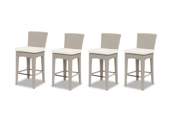 Manhattan Wicker Barstool With Cushions - Set of 4 (front)