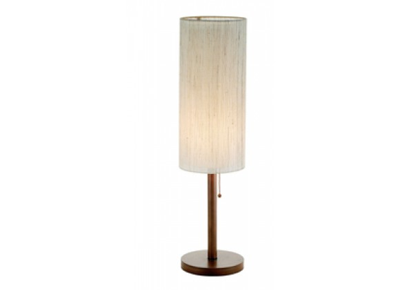 Adesso Hamptons Walnut Finish Contemporary Home Table Lamp