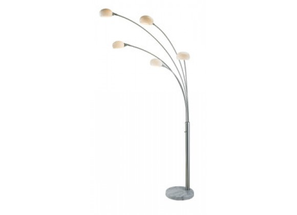 Adesso Luna Contemporary Five Different Size Arc Floor Light