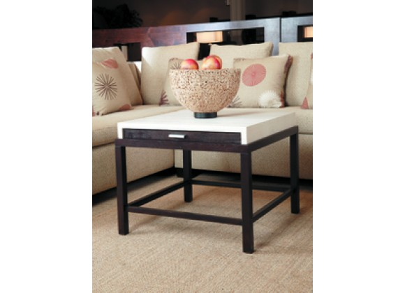 Allan Copley Designs Spats 1-Drawer Square End Table