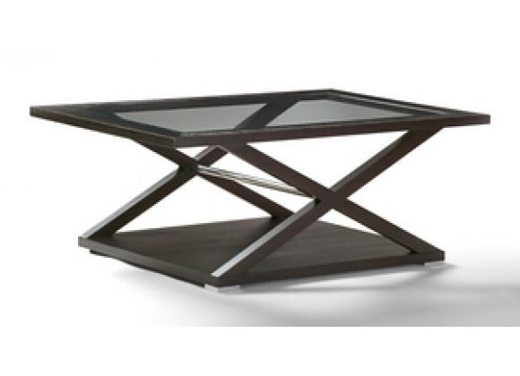 Allan Copley Designs Halifax Rectangular Glass Top Cocktail Table