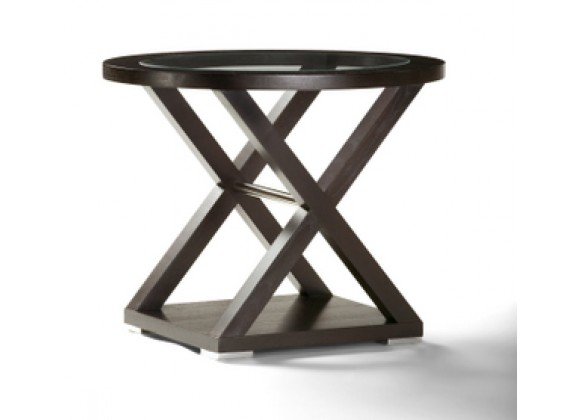 Allan Copley Designs Halifax Oval Glass Top End Table