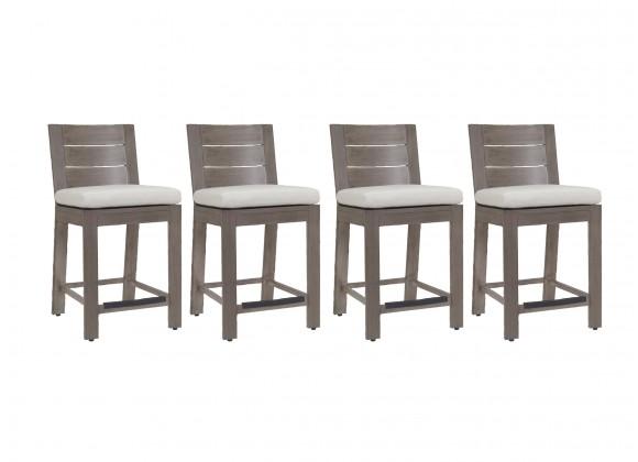 Laguna Aluminum Barstool With Cushions - Front