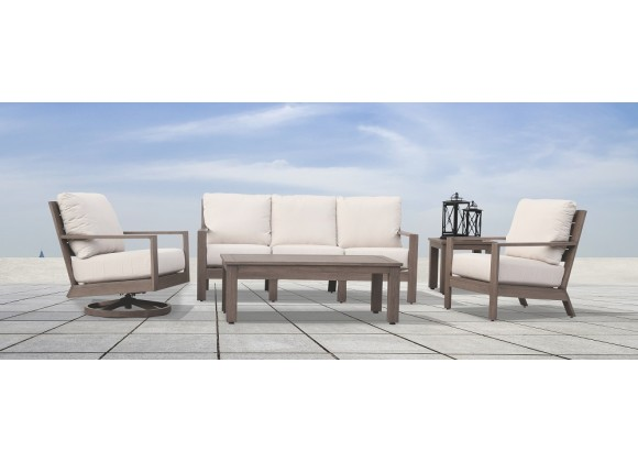 Sunset West Laguna Aluminum Sofa, Club Chair, Swivel Club and Tables
