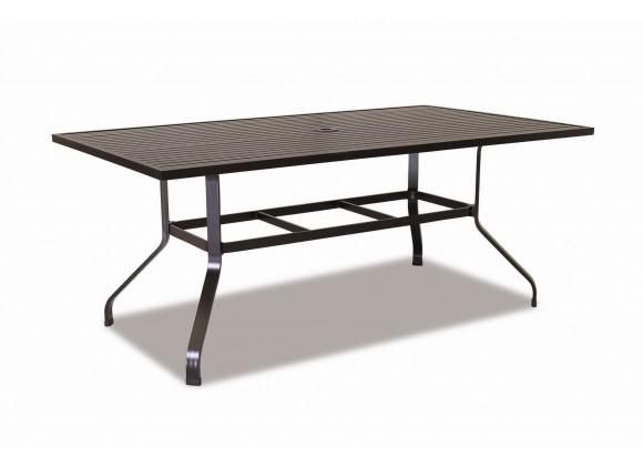 "La Jolla Aluminum 72"" Rectangular Dining Table"