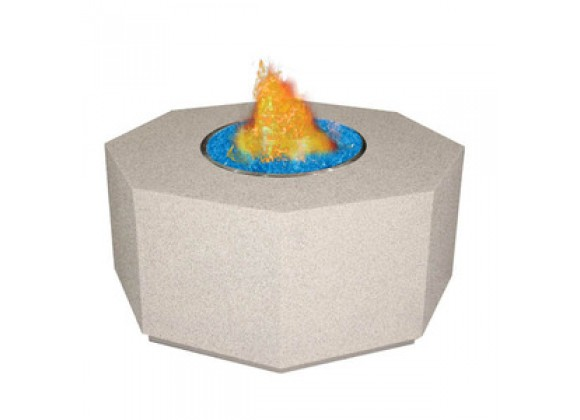 Fireside America Octagon Gas Fire Pit For Fire Glass Gems - LP