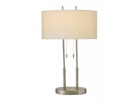 Adesso Duet Two Poles Extended Modern Table Lamp with Oval Base