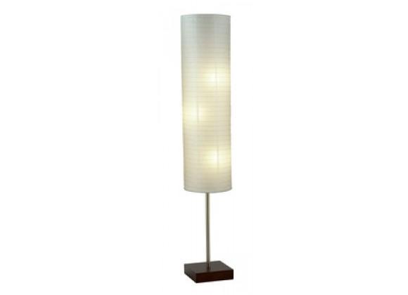 Adesso Gyoza 67 Inch Floorchiere Contemporary Square Walnut Design Floor Lamp