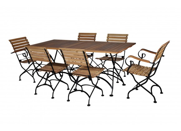 French Café Bistro Dining Set - 7 Pieces