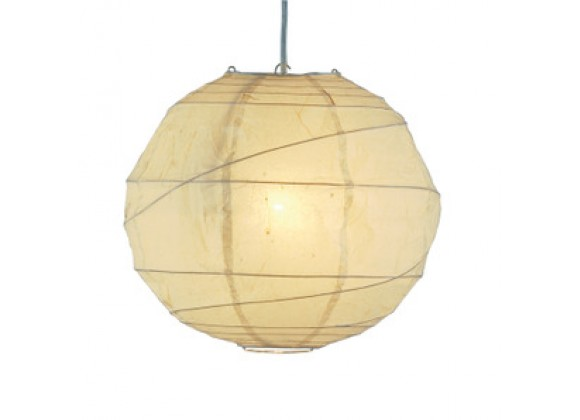 Adesso Orb Large Contemporary Asian Style Rice Paper Ceiling Pendant