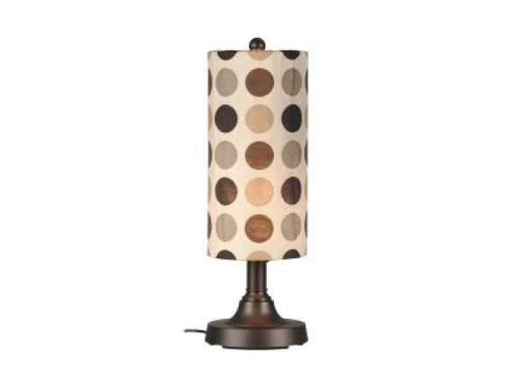 "Patio Concepts Coronado 30"" Table Lamp with 2"" bronze body and mojito coffee bean Sunbrella shade fabric"