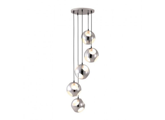 Zuo Modern Meteor Shower Ceiling Lamp Chrome