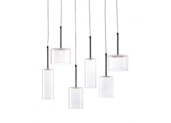 Zuo Modern Hale Ceiling Lamp Clear