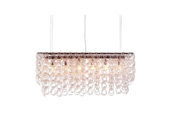 Zuo Modern Jet Stream Ceiling Lamp Clear